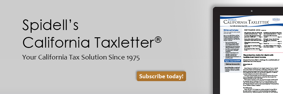 Spidell's California Taxletter®